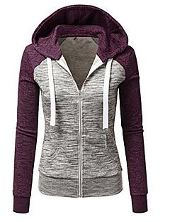 tanie Damskie bluzy z kapturem-Damskie Bawełna Długi rękaw Bluza z Kapturem - Wielokolorowa, Modern Style