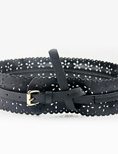 cheap -Women's Active Basic Leather Wide Belt