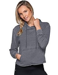 billige Løbetøj-Dame Løbe-T-shirt Langærmet Åndbarhed Sweatshirt / Hattetrøje for Løb Polyester, Nylon Mørkegrå S / M / L