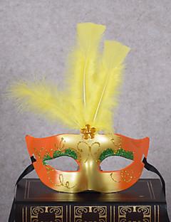 billige Halloweenkostymer-Klassisk Masquerade Mask Lilla Gul Rød Blå Fuksia Plastikker Cosplay-tilbehør Maskerade