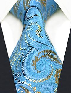 billige Slips og sløyfer-menns festverk rayon slips - farge blokk paisley jacquard