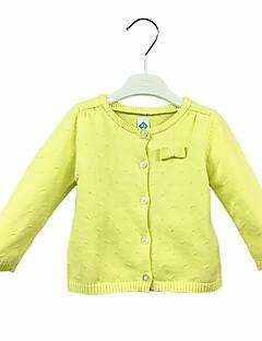 billige Babyoverdele-Baby Pige Trøje og cardigan Daglig Ensfarvet, Bomuld Langærmet Sødt Afslappet Grøn