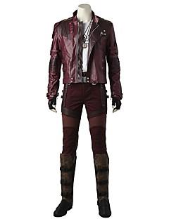 tanie Kostiumy filmowe i telewizyjne-Superbohaterowie Cosplay Kostiumy Cosplay Kostium Kostiumy z filmów Czerwony Płaszcz Top Spodnie Rękawice Pas Buty Więcej Akcesoria