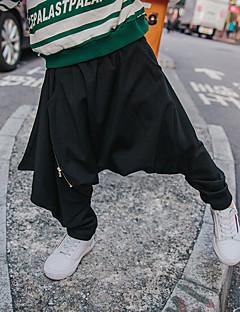 tanie Odzież dla chłopców-Spodnie Wełna Bawełna Włókno bambusowe Dla chłopców Codzienny Jendolity kolor Wiosna Prosty Black