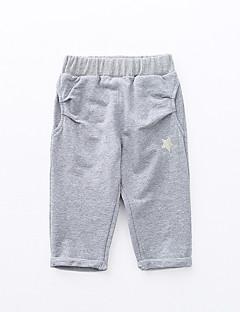 tanie Odzież dla chłopców-Spodnie Bawełna Włókno bambusowe Spandeks Dla chłopców Jendolity kolor Wiosna Aktywny Brown Gray