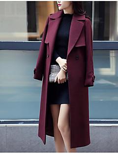 お買い得  レディースコート&トレンチコート-女性用 コート ソリッド プリーツ