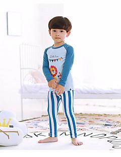 billige Undertøj og sokker til drenge-Drenge Nattøj Blomstret Blå Gul