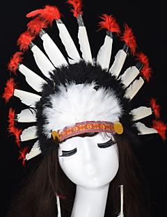 Χαμηλού Κόστους Σκηνικά Στοιχεία Halloween-Κλασσικό Μάσκα μάσκας Κόκκινο Φτερό Αξεσουάρ για Στολές Ηρώων Μασκάρεμα