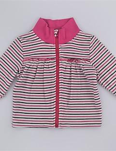 billige Sweaters og cardigans til piger-Pige Trøje og cardigan Daglig Stribet Farveblok, Bomuld Forår Efterår Langærmet Sødt Aktiv Lilla Rosa
