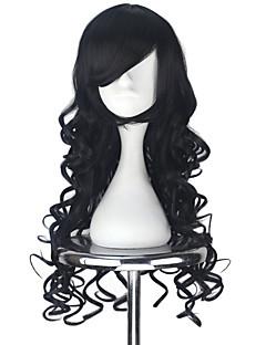 billiga Lolitaperuker-Lolita-peruker Lolita Svart Prinsess Lolita Lolita-peruker 75 CM Cosplay-peruker Halloween Peruk Till