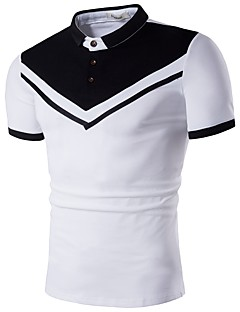 お買い得  メンズポロシャツ-男性用 Polo シャツカラー カラーブロック コットン