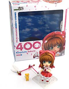 billige Anime cosplay-Anime Action Figurer Inspirert av Cardcaptor Sakura Sakura Kinomoto PVC 9.5 CM Modell Leker Dukke