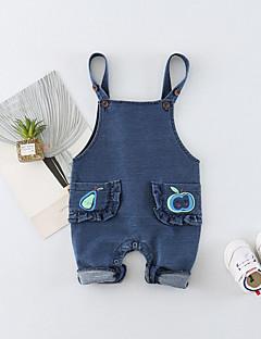 billige Babytøj-Baby Unisex En del Daglig Trykt mønster, Bomuld Forår Sommer Uden ærmer Aktiv Blå Orange