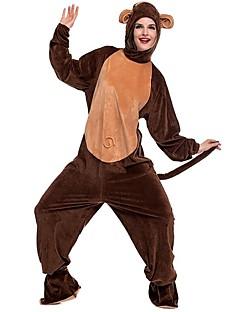 billige Kigurumi-Voksne Ape Onesie-pysjamas Kostume Pleuche Brun Cosplay Til Pysjamas med dyremotiv Tegnefilm Halloween Festival / høytid