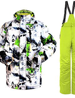 billiga Skid- och snowboardkläder-Wild Snow Herr Skidjacka och -byxor Vindtät, Vattentät, Varm Skidåkning / Vintersport Klädesset Skidkläder / Andningsfunktion / Andningsfunktion
