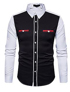 お買い得  メンズシャツ-男性用 シャツ, ビジネス カラーブロック