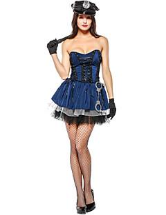billige Halloweenkostymer-Trollmann/heks Politi Halloween Karneval Bursdag Oktoberfest Festival / høytid Halloween-kostymer Blæk Blå Fargeblokk Vampyrer Dyr
