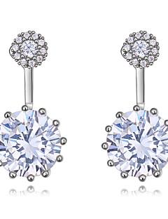 Women s Diamond Cubic Zirconia tiny diamond Front Back   Ear Jacket Earrings  Zircon Earrings Ladies European Fashion Elegant Jewelry Gold   Silver   Rose  ... b49ab8d523bf