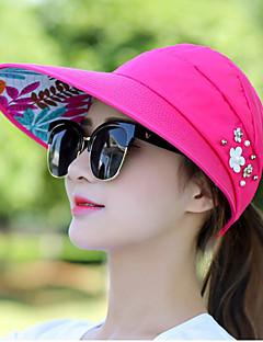 billige Trendy hatter-Dame Fritid Solhatt - Perler, Ensfarget