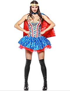 billige Halloweenkostymer-Superhelter Trollmann / heks Cosplay Halloween Halloween Karneval Oktoberfest Festival / høytid Drakter Blæk Blå Fargeblokk Vampyrer