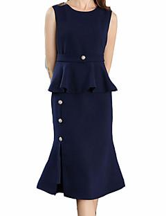 cheap Women's Dresses-Women's Sexy Slim Bodycon Sheath Dress - Solid Colored, Basic High Waist