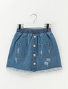 billige Pigenederdele-Børn Pige Simple Ensfarvet Nederdel