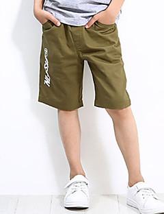 billige Drengebukser-Drenge Shorts Daglig Ferie Trykt mønster, Bomuld Polyester Spandex Sommer Simple Aktiv Army Grøn