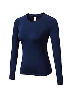 billige Løbetøj-Dame Løbe-T-shirt Langærmet Åndbarhed T-Shirt for Træning & Fitness Polyester Lilla / Blå / Mørk Navy L / XL / XXL