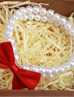 billiga Hundkläder-Katt Halsband Hundkläder Enfärgad Vit Annat material Kostym För husdjur Stilig Rosett