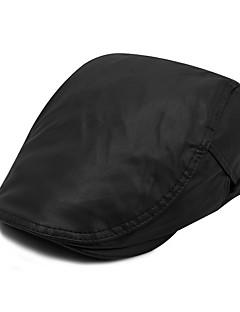 billige Trendy hatter-Unisex Kontor Fritid Beret Solhatt Baseballcaps Ensfarget PU