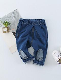 preiswerte Unterteile für Babys-Baby Unisex Hose Alltag Solide Patchwork Baumwolle Frühling Sommer Niedlich Aktiv Blau Schwarz