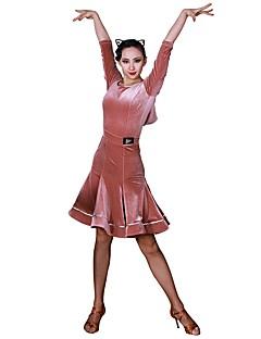 tanie Stroje do tańca latino-Taniec latynoamerykański Tutus i spódnice Damskie Szkolenie Sztruks Poliamid Materiały łączone Naturalny Spódnice