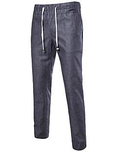 billige Herrebukser og -shorts-menns vanlige midterstigende mikro-elastiske draktbukser, gummistrømsfast polyesterfjær sommer