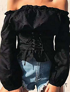 economico Top da donna-T-shirt Per donna Basic, Tinta unita
