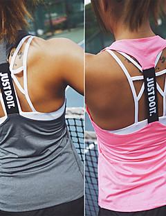 billige Løbetøj-Dame Løbesinglet Uden ærmer Hurtigtørrende, Svedreducerende, Åndbarhed Tank Tops / T-Shirt for Yoga / Træning & Fitness / Løb Nylon,