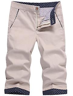 billige Herrebukser og -shorts-Herre Store størrelser Bomull Tynn Shorts Chinos Bukser - Trykt mønster, Ensfarget Lav Midje