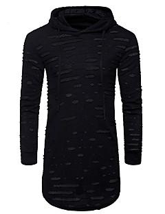 お買い得  メンズTシャツ&タンクトップ-男性用 すかしカット Tシャツ フード付き スリム 水玉 コットン