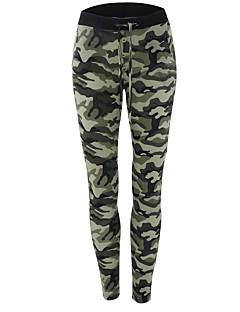billiga Byxor-Dam Militär Skinny Joggingbyxor Byxor - Kamouflage Tryck Hög midja