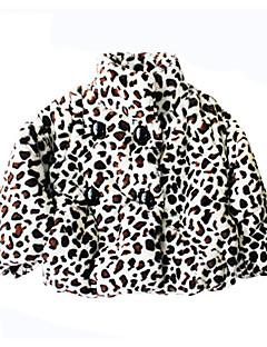 tanie Odzież dla dziewczynek-Kurtka / płaszcz Bawełna Dla dziewczynek Codzienny Urlop Cętki Zima Jesień Długi rękaw Aktywny Brown