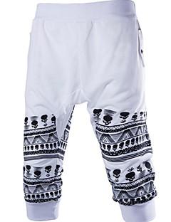 billige Herrebukser og -shorts-Herre Aktiv Shorts Bukser Geometrisk
