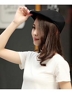 billige Trendy hatter-Unisex Kontor Fritid Beret Solhatt Baseballcaps Ensfarget Polyester