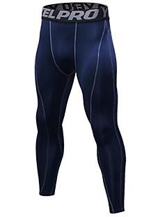billiga Träning-, jogging- och yogakläder-Herr Tights för jogging - Vit, Vinröd, Mörk Marin sporter Cykling Tights Sportkläder Lättvikt, Snabb tork, Anatomisk design Elastisk