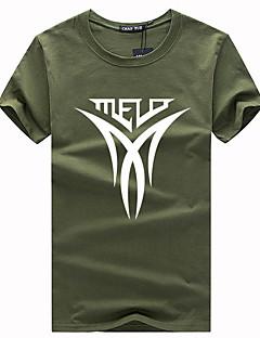 billige Herremote og klær-Rund hals T-skjorte - Bokstaver Herre