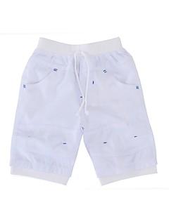 billige Drengebukser-Drenge Shorts Daglig Ferie Ensfarvet, Bomuld Polyester Sommer Halvlange ærmer Simple Hvid Sort Beige Lysebrun