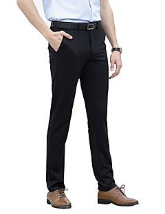 billige Herrebukser og -shorts-Herre Forretning Gatemote Dressbukser Chinos Bukser Ensfarget