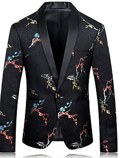 billige Herremote og klær-Broderi Jacquard Blazer-Blomstret Forretning Chinoiserie Herre