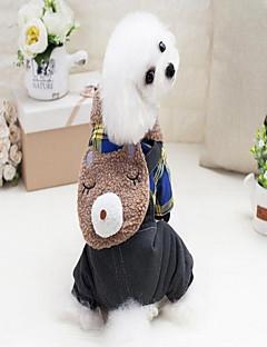 billiga Hundkläder-Hund Jumpsuits Hundkläder Pläd/Rutig Gul Grön Polyester/Bomull Blandning Velour Kostym För husdjur Prickig & Rutig Fritid