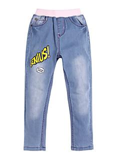 billige Bukser og leggings til piger-Pige Bukser Daglig Patchwork, Bomuld Forår Sommer Simple Aktiv Blå