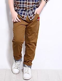 tanie Odzież dla chłopców-Spodnie Dla chłopców Jendolity kolor Wiosna Lato Niebieski Clover Khaki