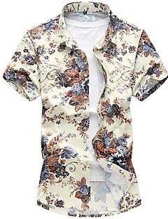 billige Plus Størrelser-Herre-Herre - Geometrisk Klassisk Stil Skjorte